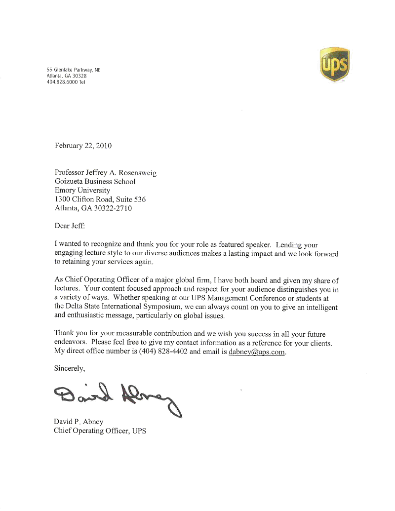 Testimonial by David Abney, CEO of UPS